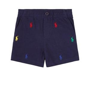 Ralph Lauren All Over Logo Shorts Marinblå 3 mån