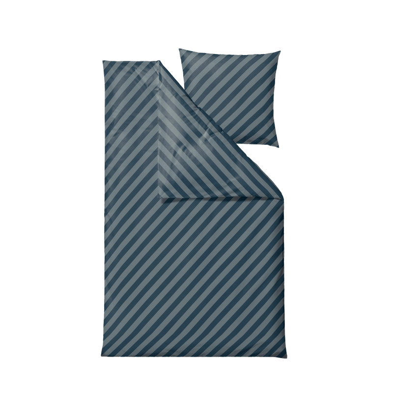 Södahl - Organic Diagonal Bedding 140 x 200 cm - Atlantic (15257)