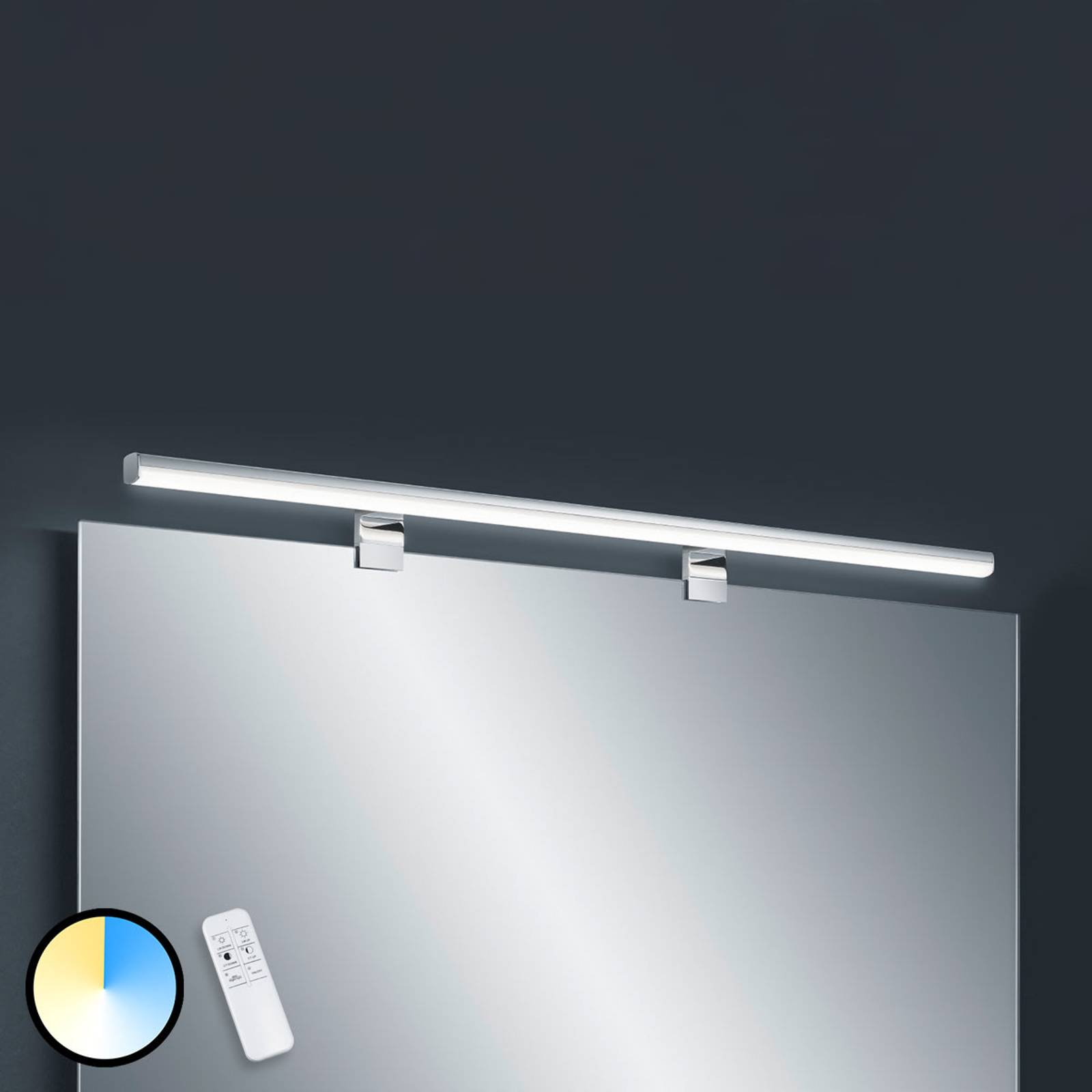 Helestra Gaia LED-peililamppu kaukosäädin 99cm