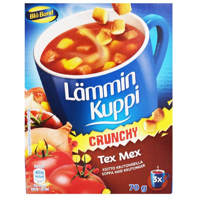 """Lämmin Kuppi """"Crunchy Tex Mex"""" 3x23g - 43% alennus"""