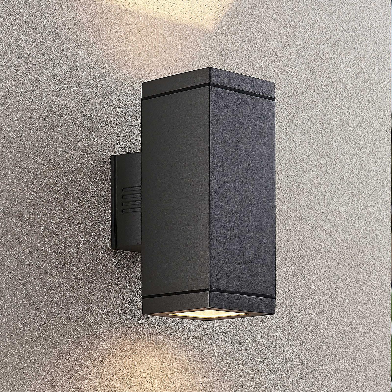 Lucande Stani -ulkoseinävalaisin, E27, 2-lamp.