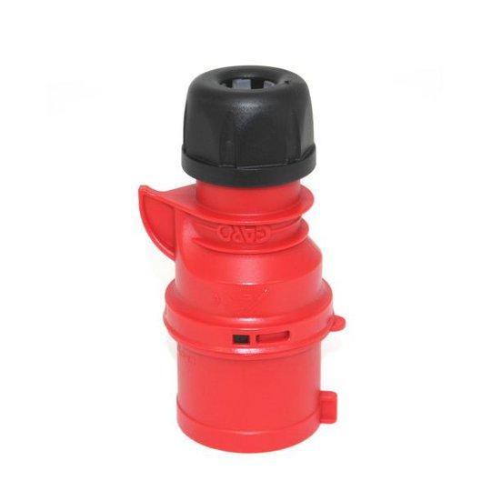 Garo Basic Pistotulppa IP44 4-napainen 32A 6h, punainen