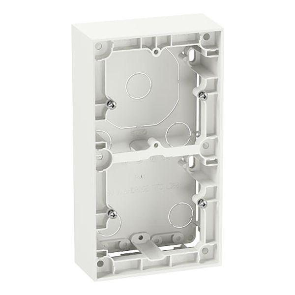 Elko Plus Korotuskehys 35 mm, valkoinen 2-lokeroinen
