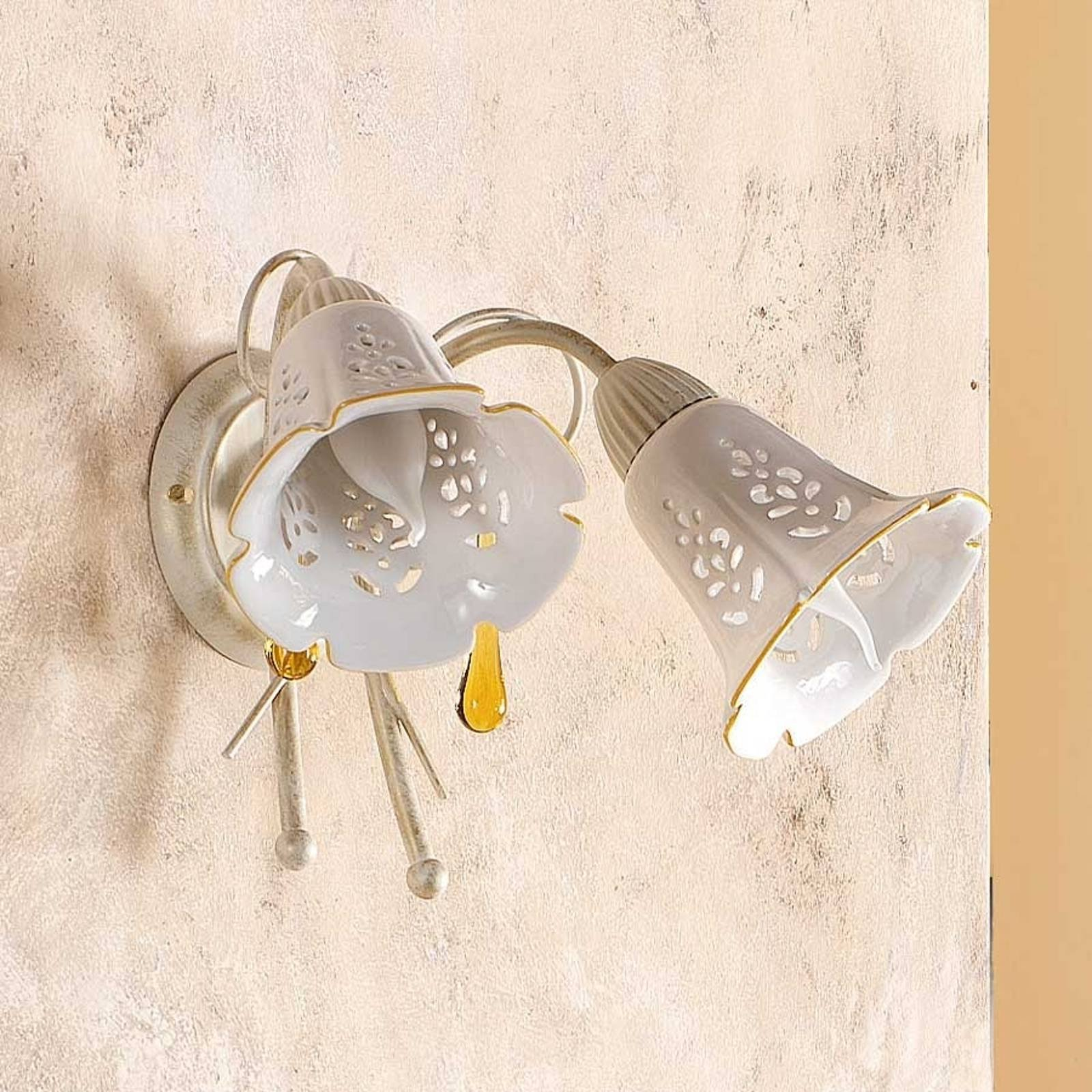GOCCE vegglampe med to lys