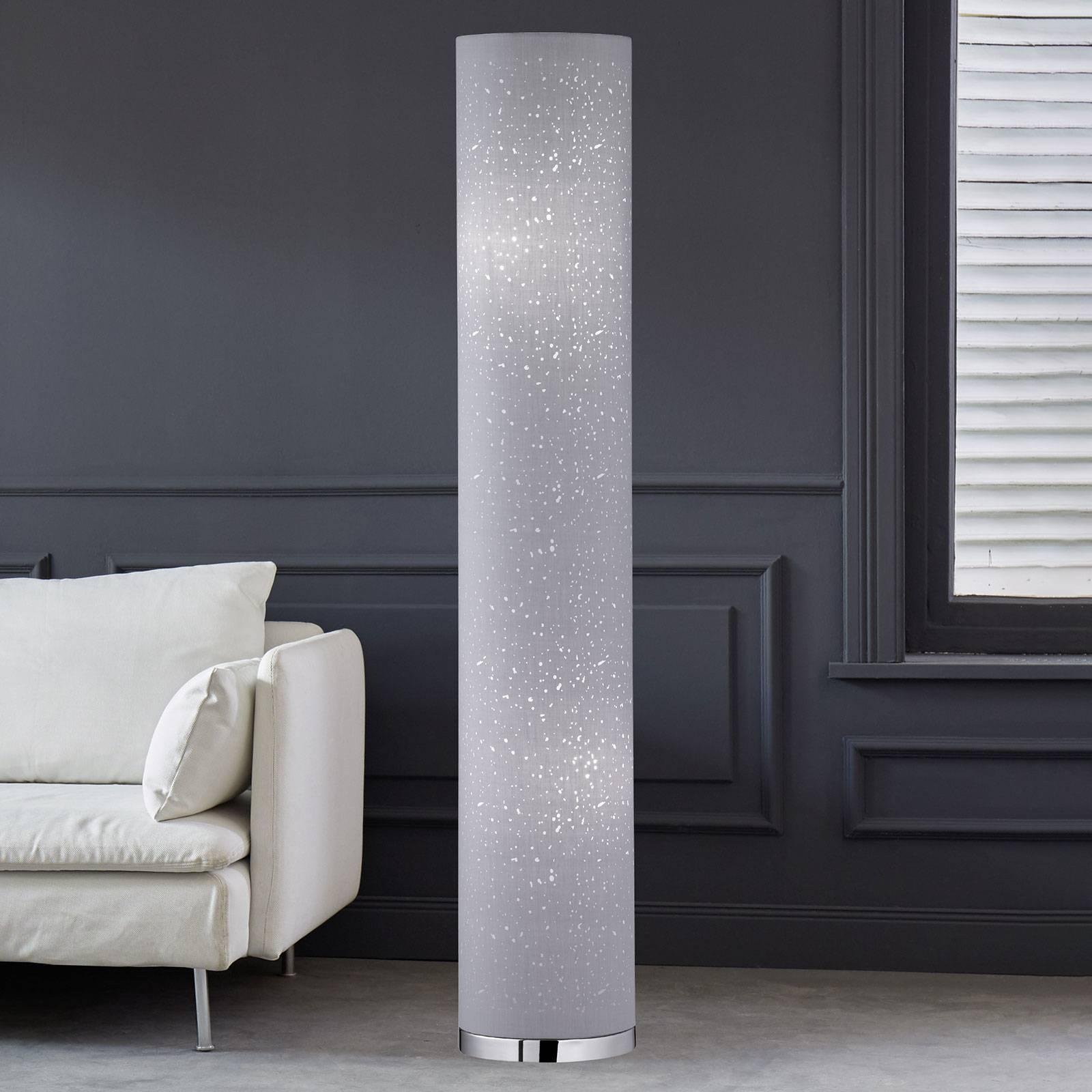 Kankainen Thor-lattiavalaisin, harmaa, 110 cm