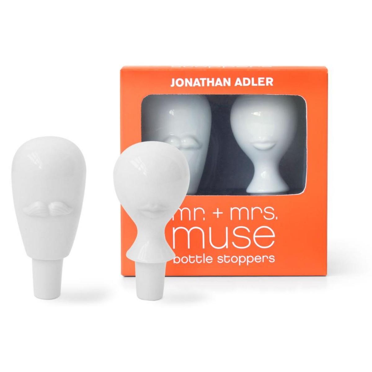 Jonathan Adler I MR. & MRS. Muse Bottle Stopper Set