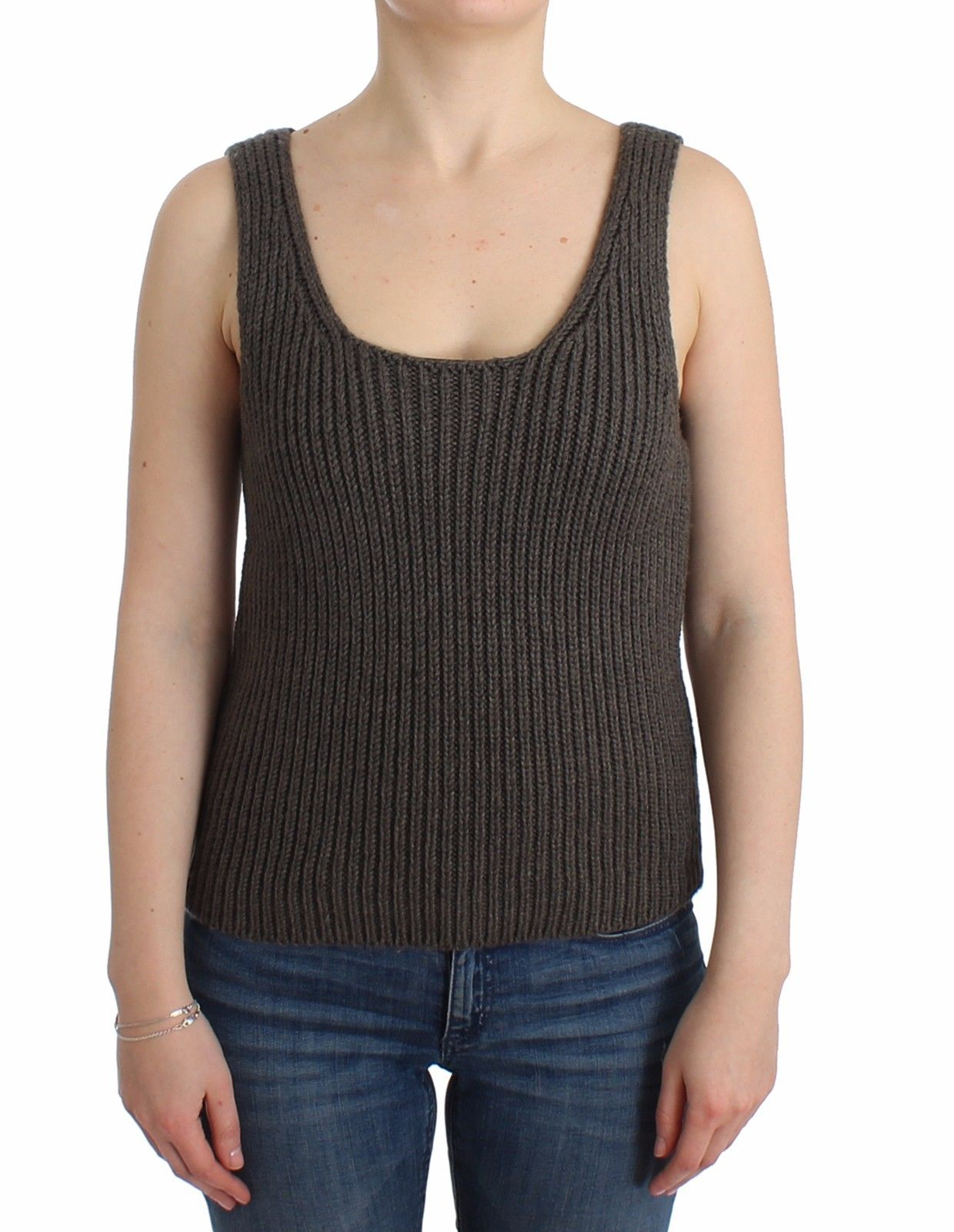 Ermanno Scervino Women's Knitted Sweater Grey SIG11863 - IT40|S