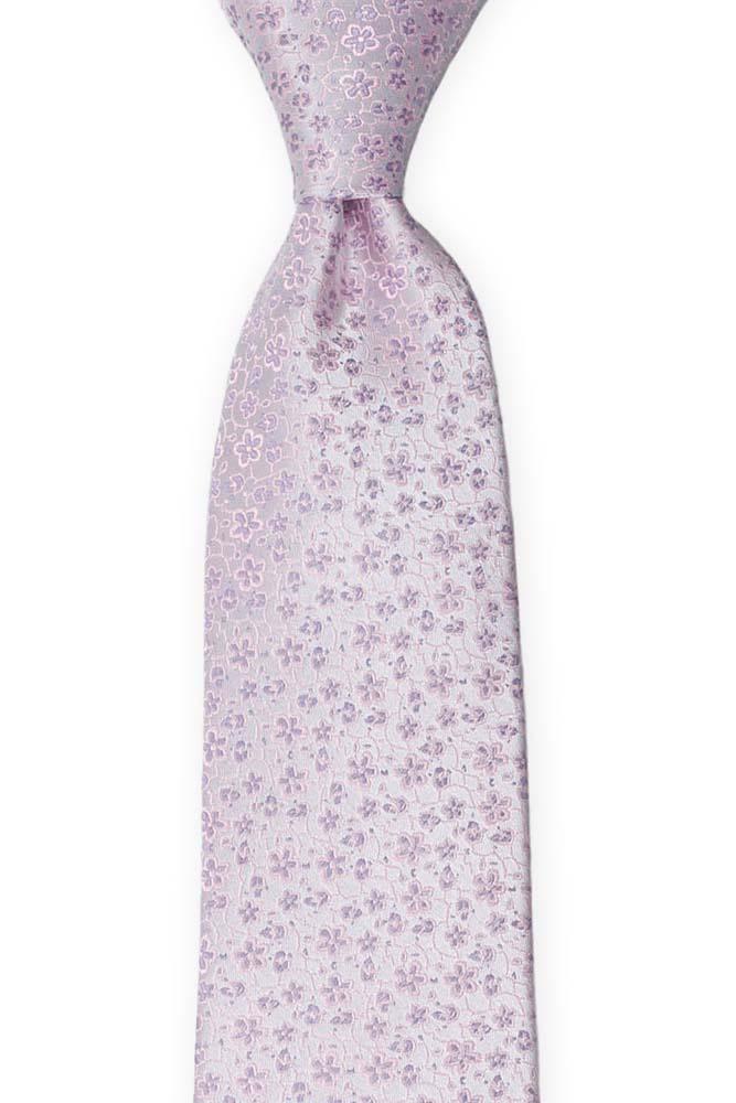 Silke Slips, Miniblomster i bleklilla & støvrosa, Lilla, Små blomster