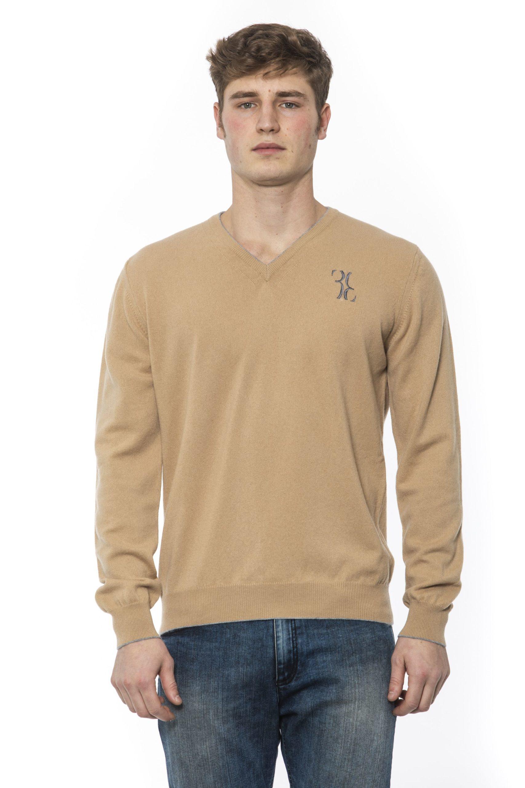 Billionaire Italian Couture Men's Camel Sweater Beige BI1313335 - IT50 | L