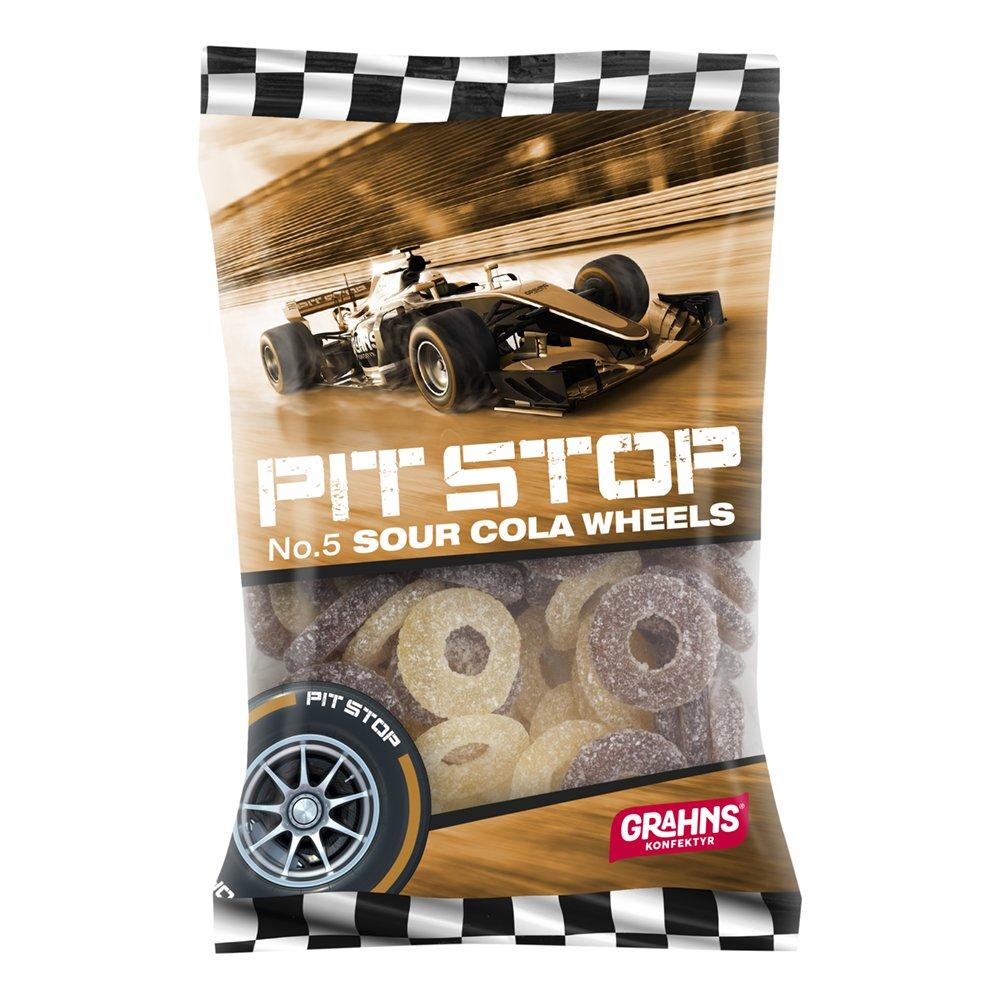 Pit Stop Sour Cola Wheels - 160 gram