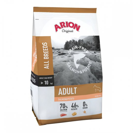 Arion Dog Adult All Breeds No Grain Salmon & Potato 12 kg