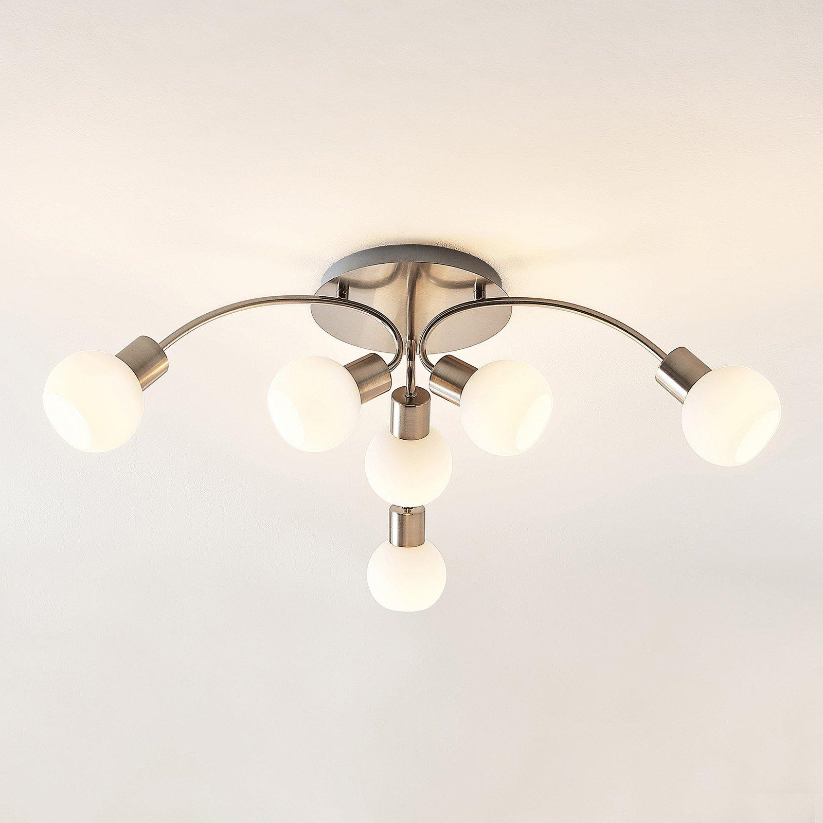 Lindby Tancerdi LED-taklampe i nikkel