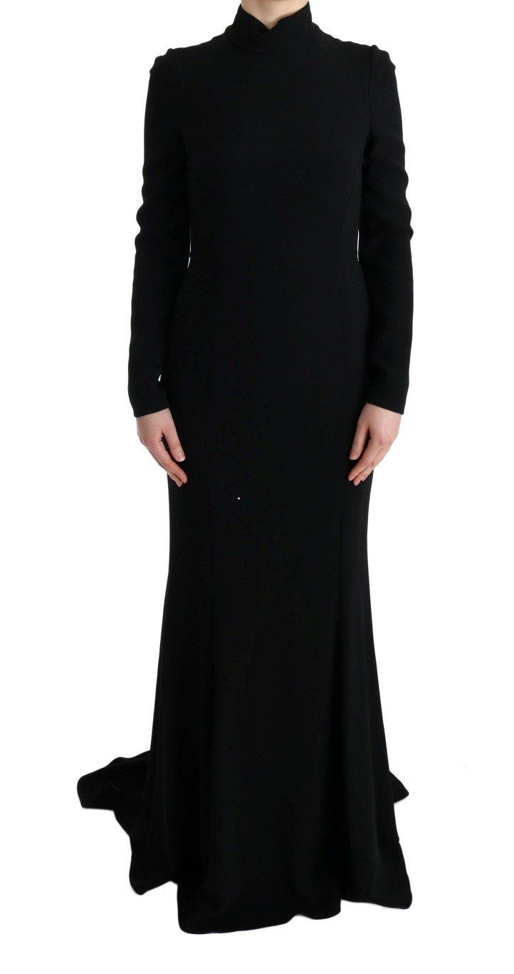 Dolce & Gabbana Women's Stretch Long Gown Sheath Dress Black SIG60666 - IT44|L