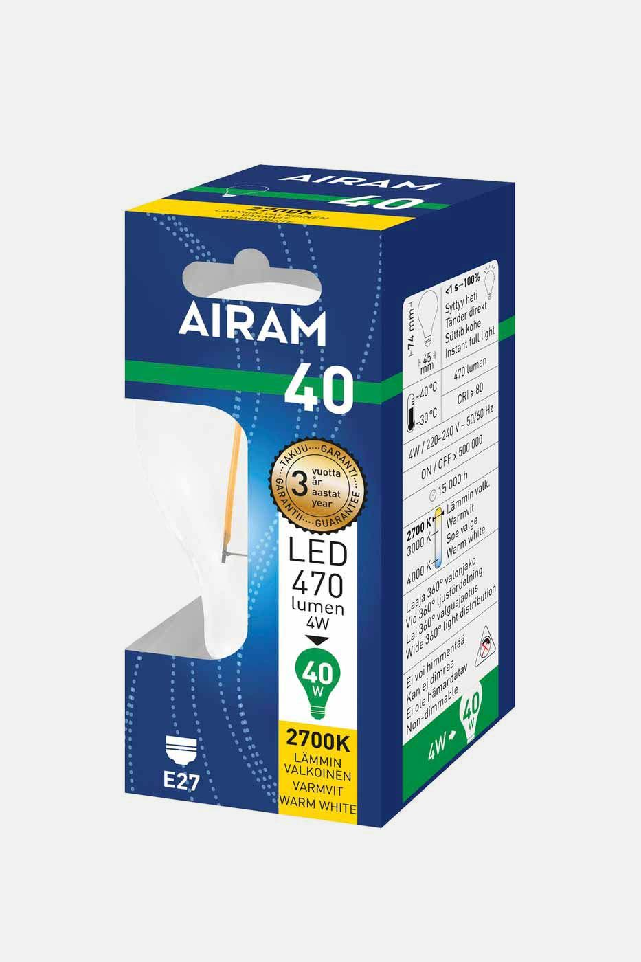 Ljuskälla Filament LED normallampa E27 40W