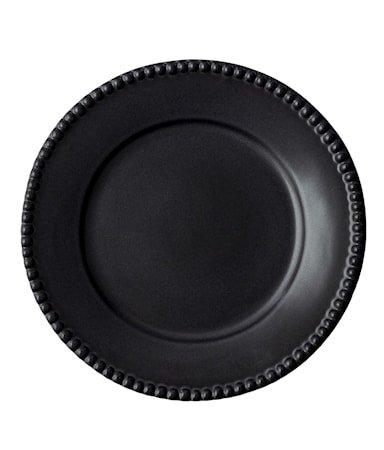 DARIA Middagstallerken Svart 28 cm 2-pakning
