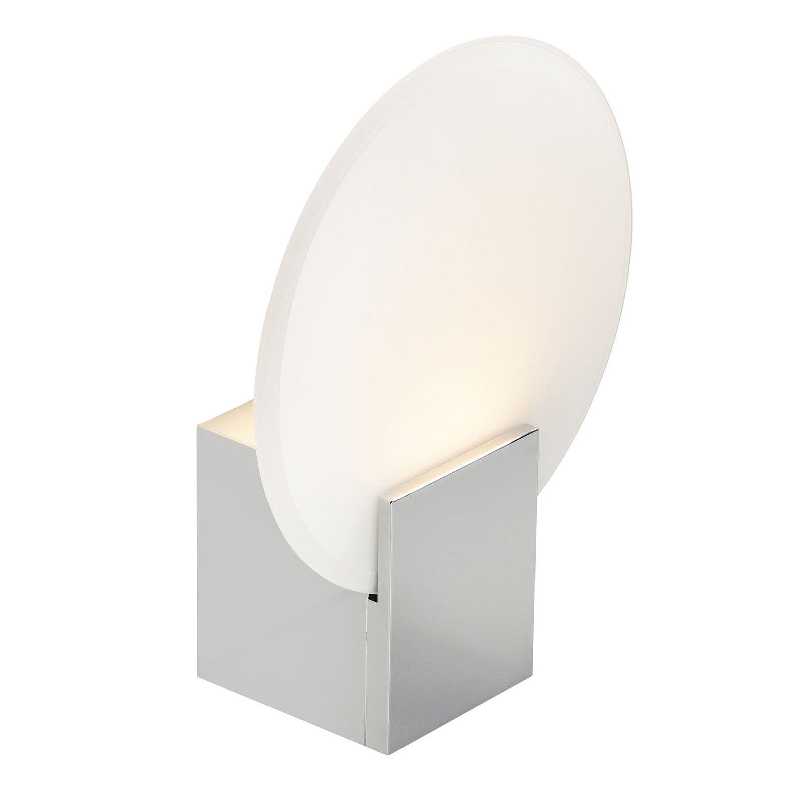 LED-vegglampe Hester, IP44, krom