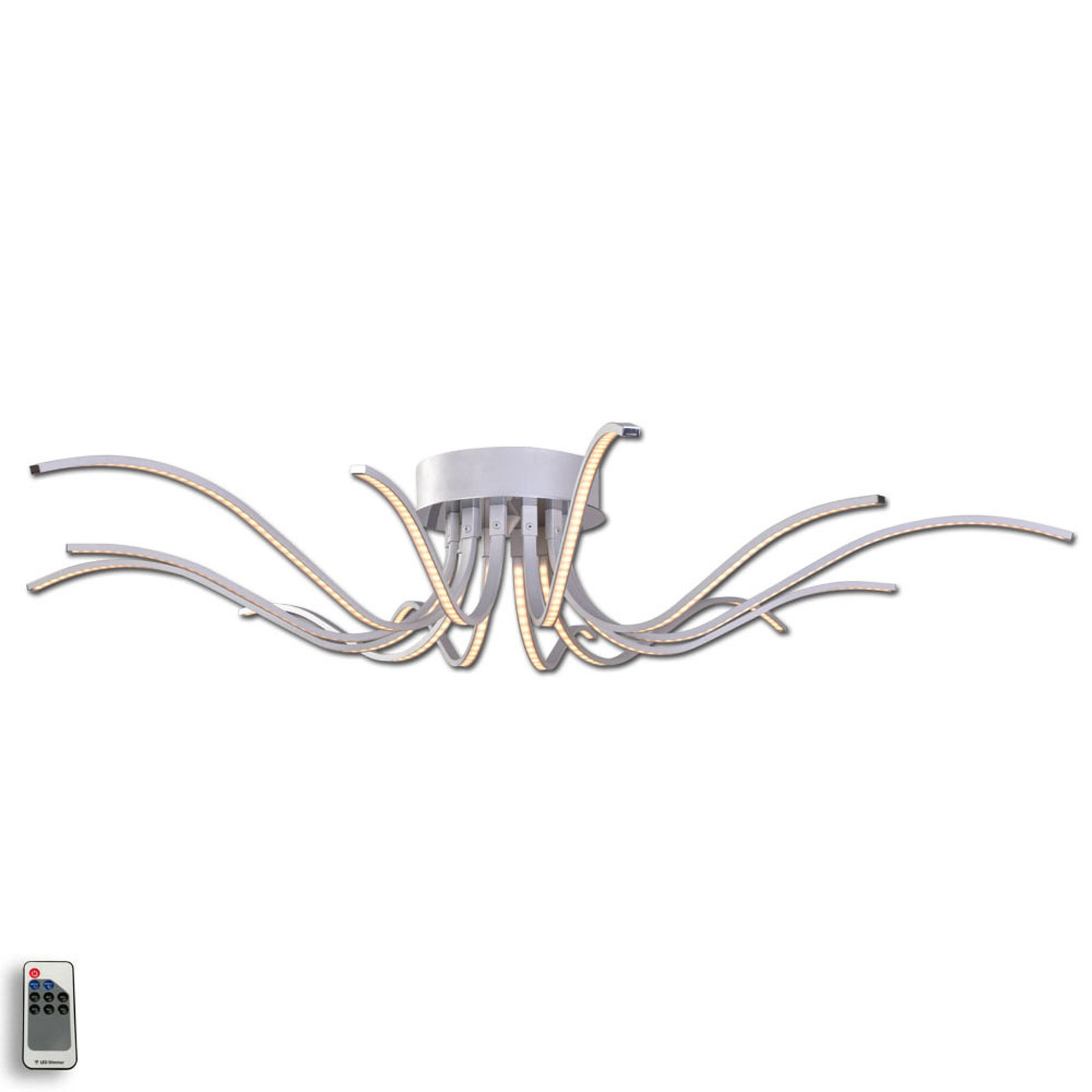 LED-kattovalaisin Lumenos, alumiinia