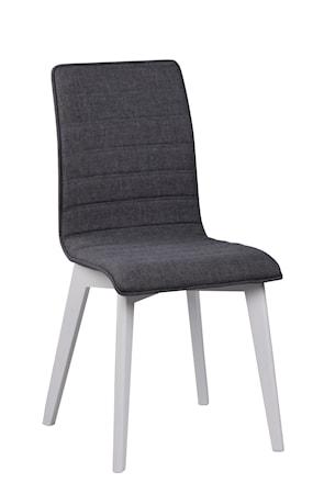 Gracy stol tyg mörkgrå/vitlack