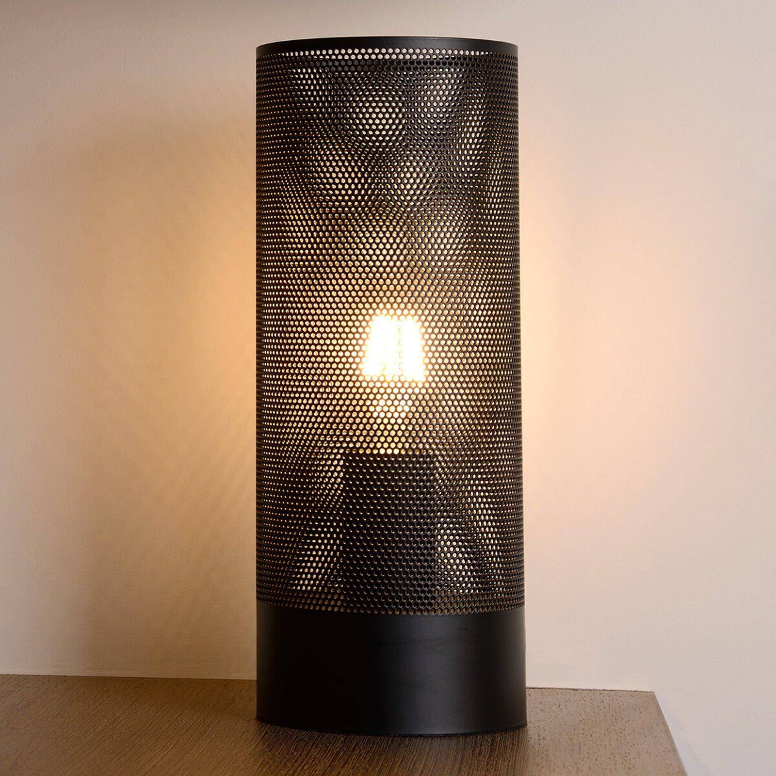 Rettformet bordlampe Beli i svart