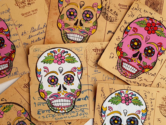 Vintage Postcard - Day Of The Dead