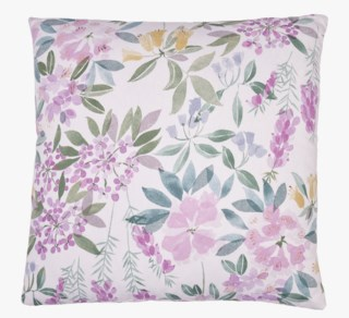 Florals koristetyyny moniväri/roosa