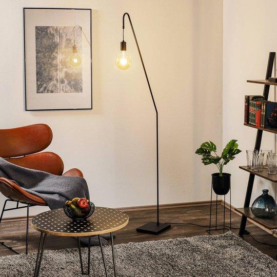 By Rydéns Rod gulvlampe, svart, høyde 180 cm