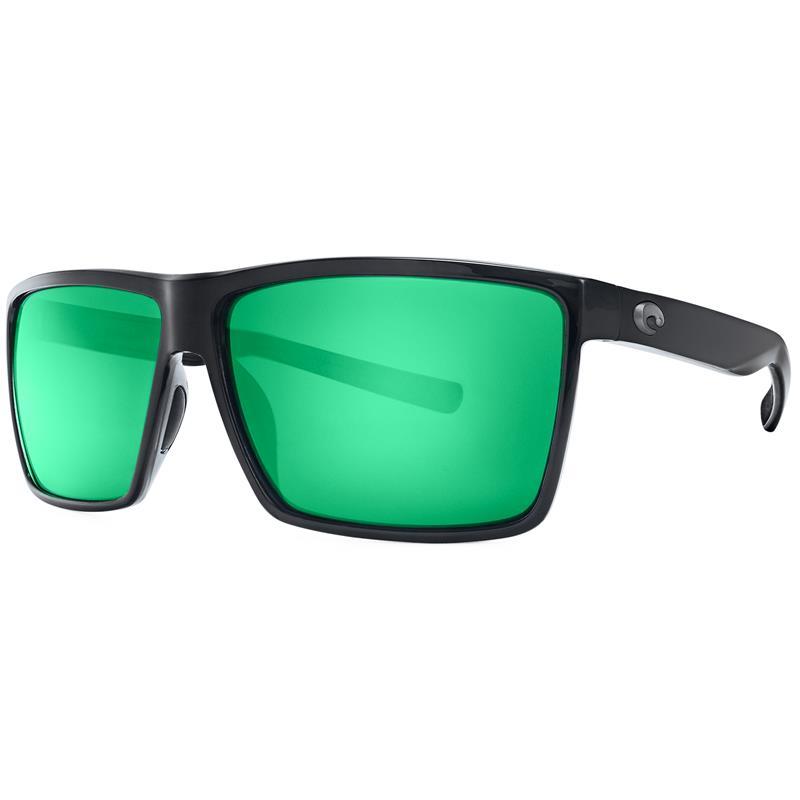 Costa Del Mar - Rincon Shiny Black Green Mirror 580P (plast)