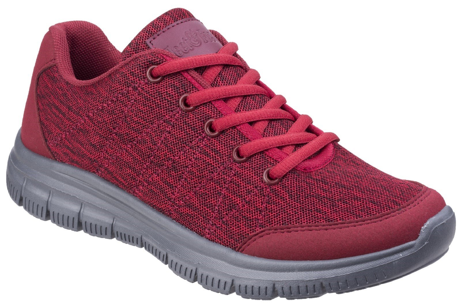 Fleet & Foster Women's Elanor Lace Up Trainer Various Colours 27155-45626 - Red 3