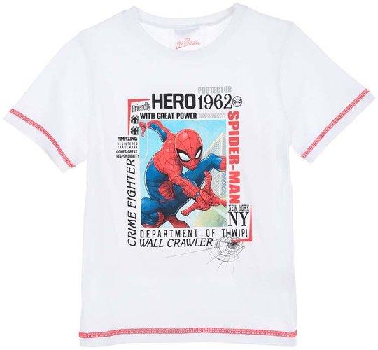 Marvel Spider-Man T-Shirt, White, 8 År