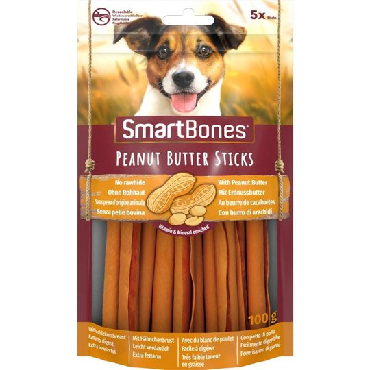 SmartBones Sticks Jordnötssmör 5-pack