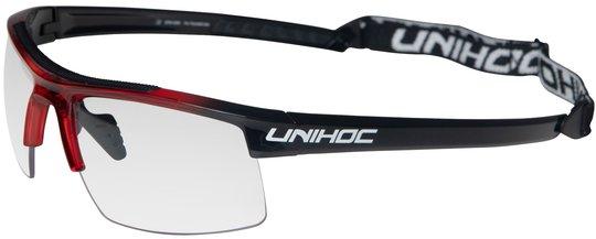 Unihoc ENERGY Innebandybriller, Rød/Svart