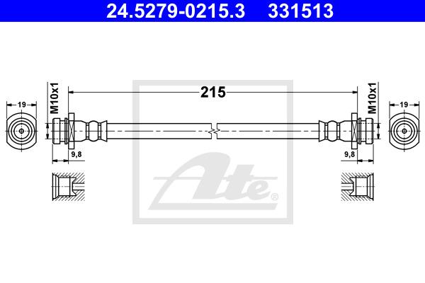 Jarruletku ATE 24.5279-0215.3