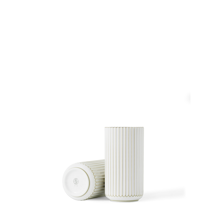 Vase Porselen Gulldetalj 15cm