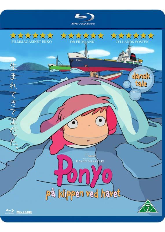 Ponyo på klippen ved havet (Blu-Ray)