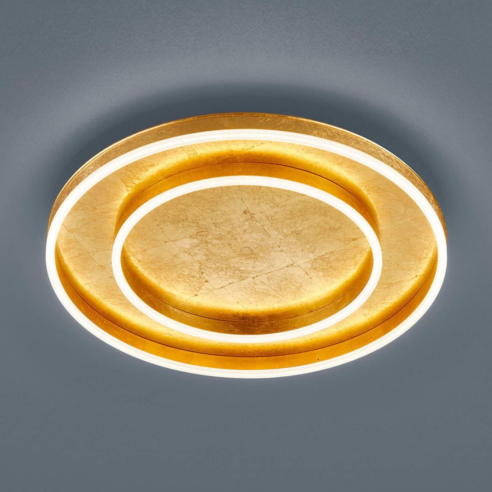 Helestra Sona LED-taklampe dimbar, Ø60cm gull