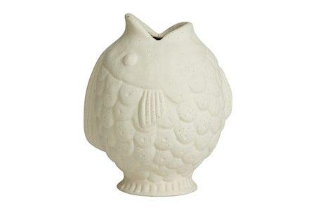 DUCIE Fish Vase S Hvit