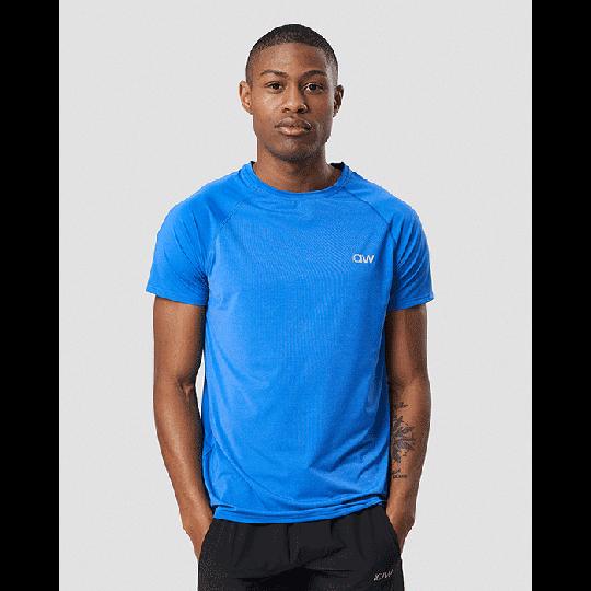 Workout Melange T-shirt, Electric Blue Melange