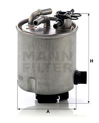 Polttoainesuodatin MANN-FILTER WK 9027