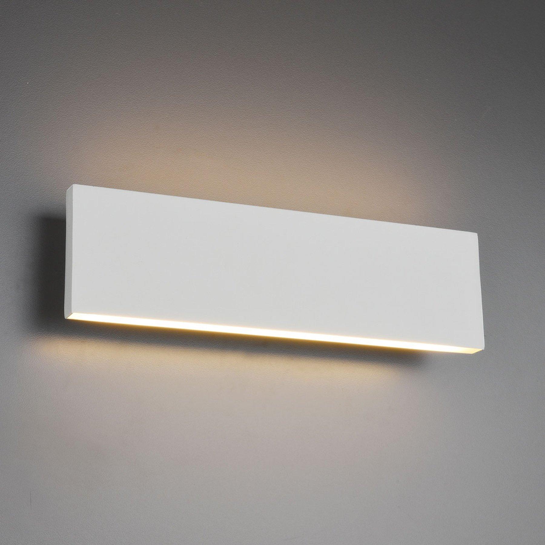 LED-vegglampe Concha 28 cm, hvit