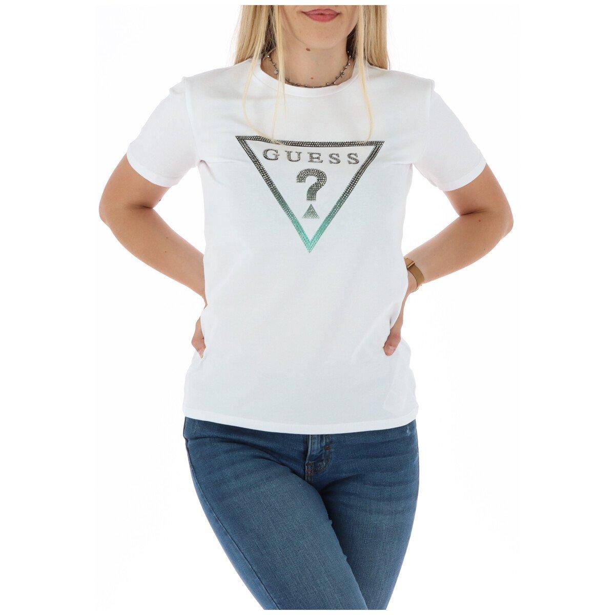 Guess Women's T-Shirt White 301081 - white-1 S
