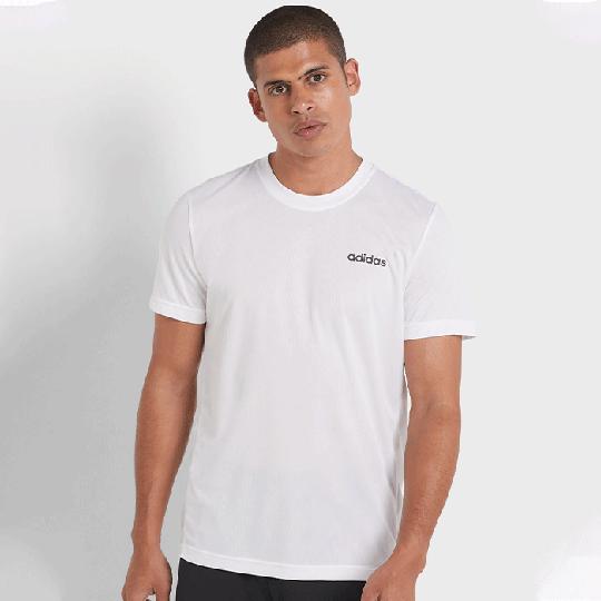 Adidas D2M Climacool Plain Tee, White