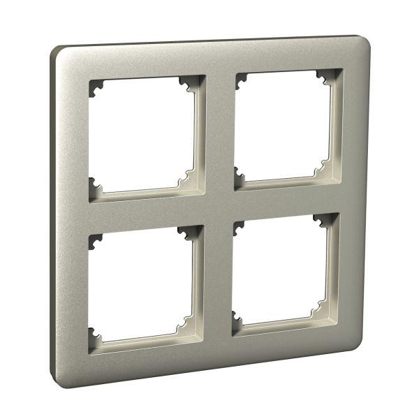 Schneider Electric Exxact WDE004344 Kombinasjonsramme metall 2 x 2 rom