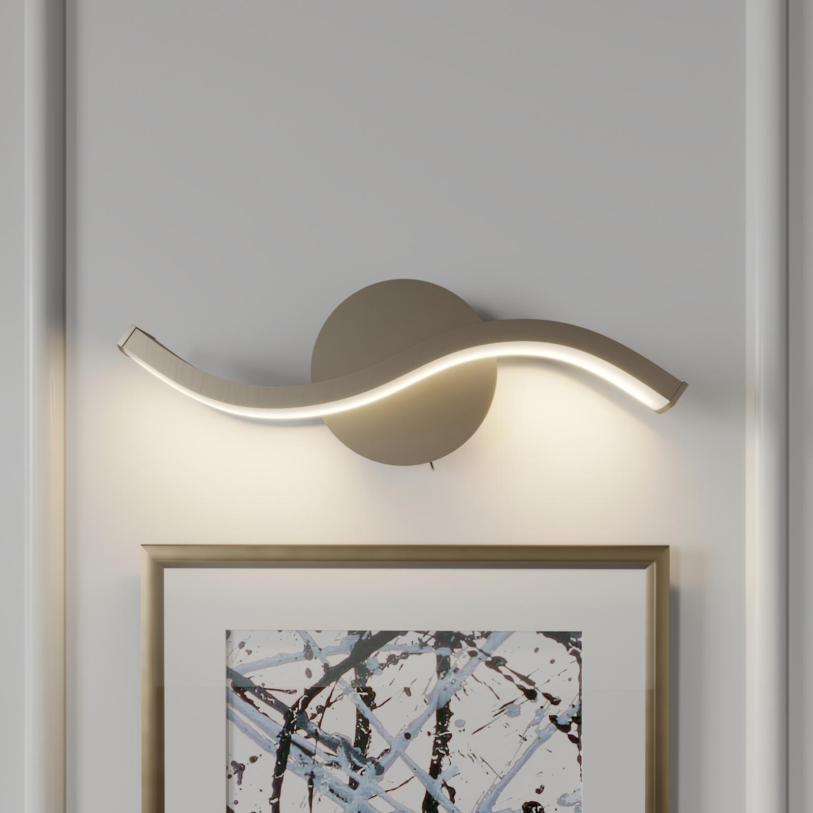 Lucande Mairia -LED-seinävalaisin, aaltomainen