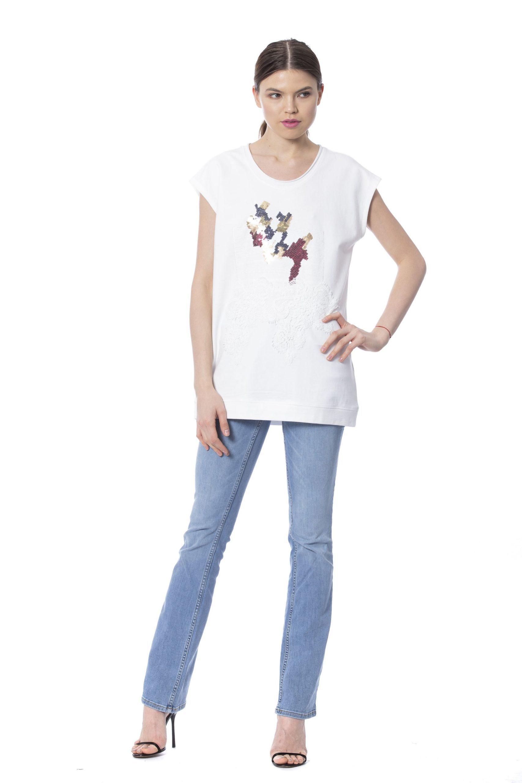Silvian Heach Women's T-Shirt White SI1235121 - XXS