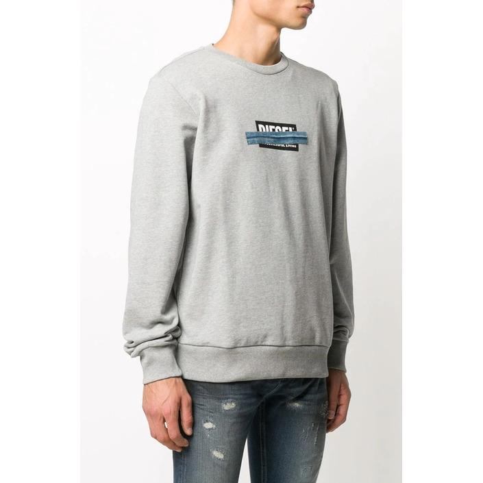 Diesel Men's Sweatshirt Grey 293910 - grey L
