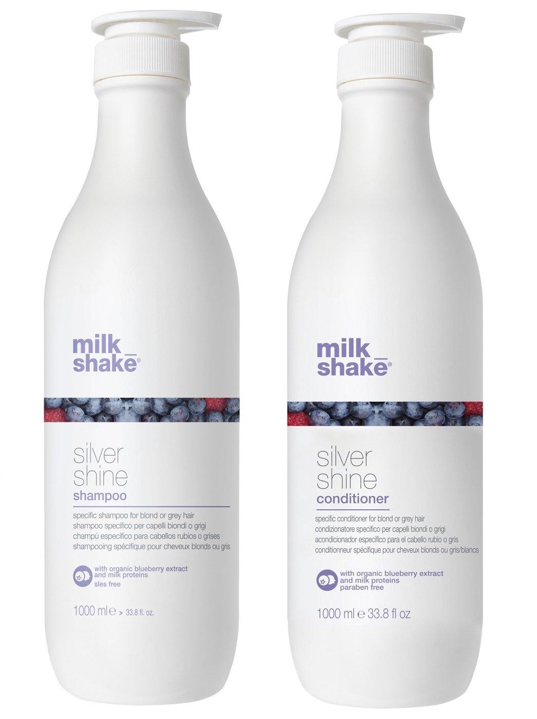 milk_shake - Silver Shine Shampoo 1000 ml + Silver Shine Conditioner 1000 ml