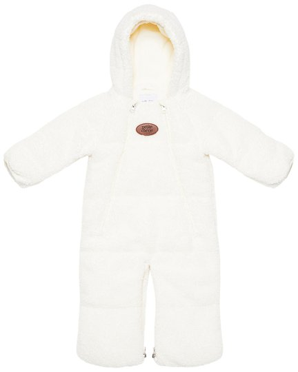 Petite Chérie Blanche 2-in-1 Babydress Pile, White