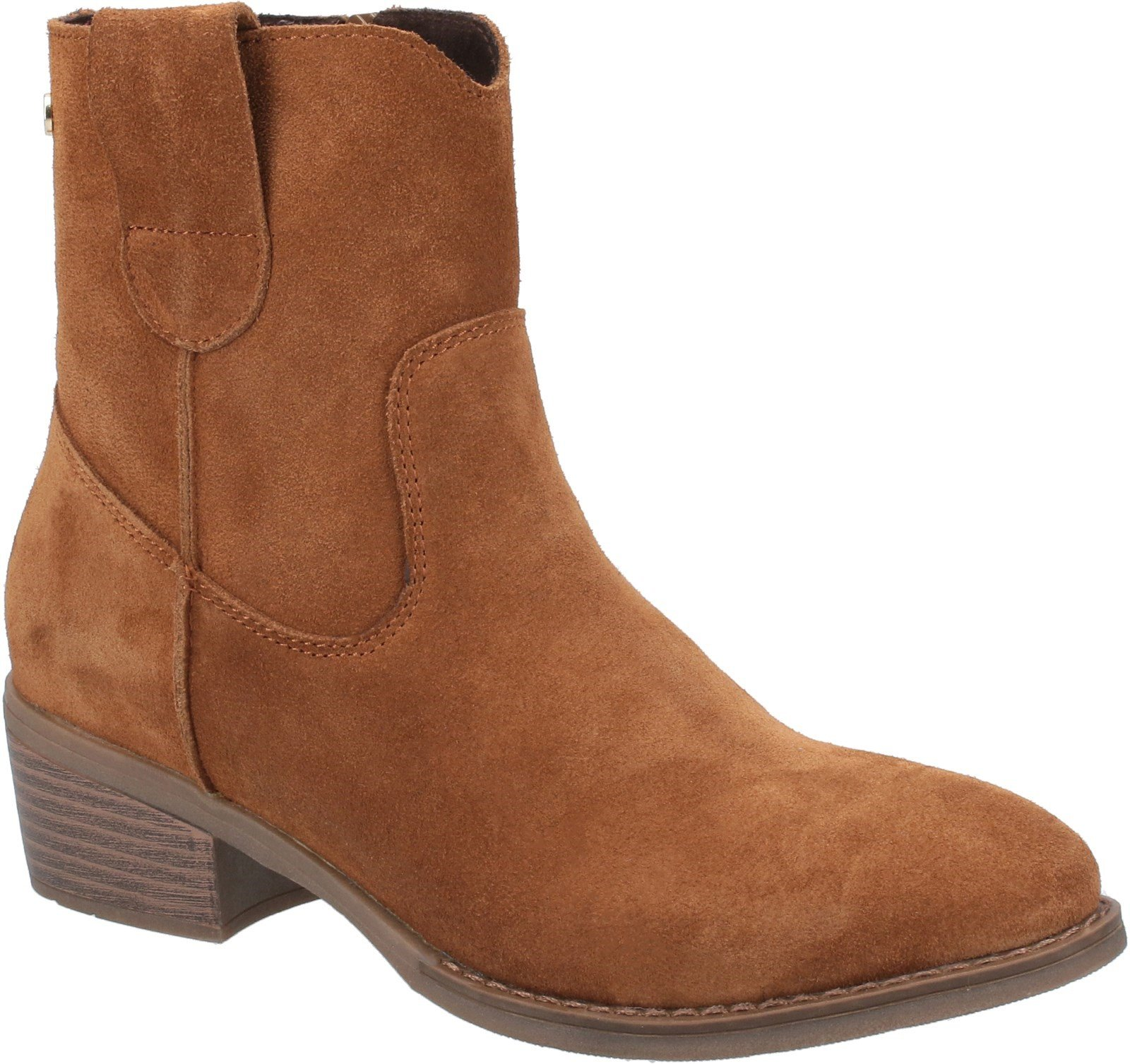 Hush Puppies Women's Iva Ladies Ankle Boots Various Colours 31187 - Tan 3