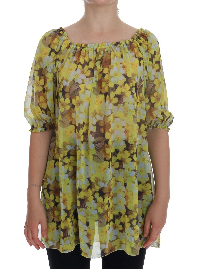 Dolce & Gabbana Women's Floral Top Yellow TSH1047 - IT44|L