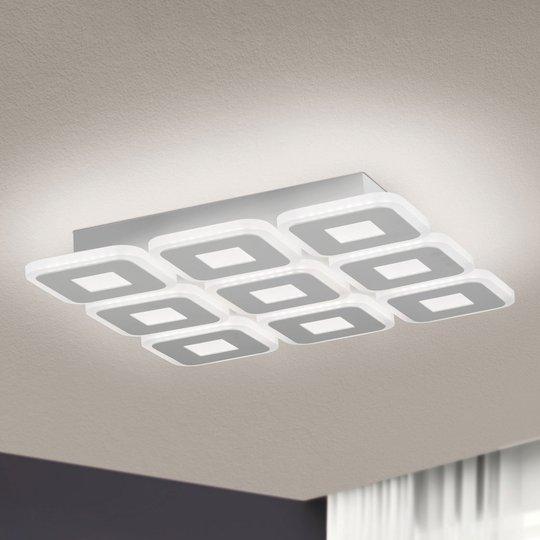 LED-kattovalaisin Domino, 9-lamppuinen